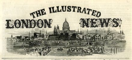 1847 ILLUSTRATED LONDON NEWS Boston USA SS BRITANNIA Aboo Bombay India (6820)